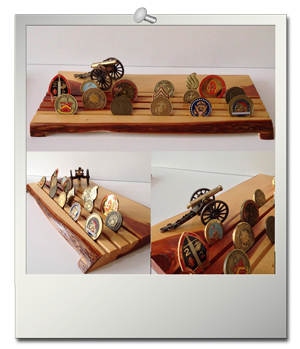 Cannon Challenge Coin Display