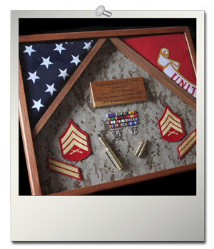 Double Flag Shadow Box